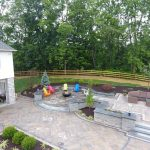 paver patio with wicker furniture
