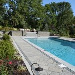 inground pool with paver patio